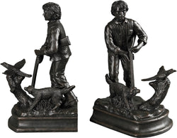 Hunter Bookends Bronze