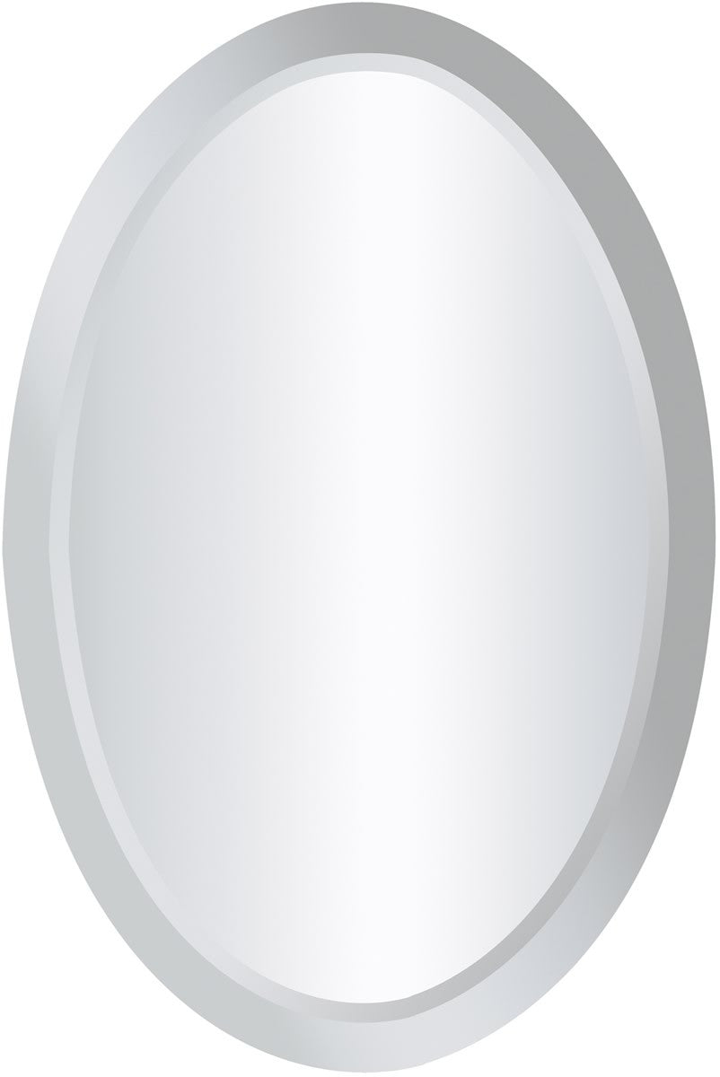 "16""H x 24""W Clear Mirror Oval Clear"
