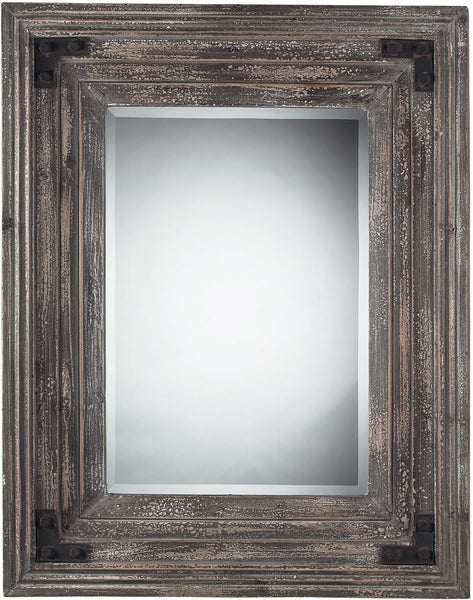 Sterling Rectangle Mirror in Distressed Wood Reclaimed Wood 116005