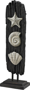 Sterling Seashell Accessory Statuary Black/Gray 878001