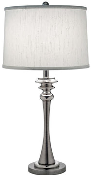 "29""H 1-Light Table Lamp Antique Nickel/Polished Nickel"