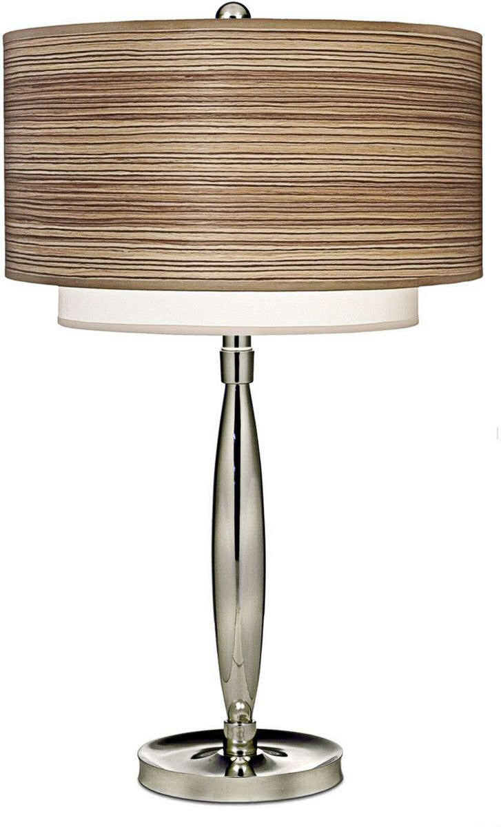 "27""H 3-Way Table Lamp Polished Nickel"