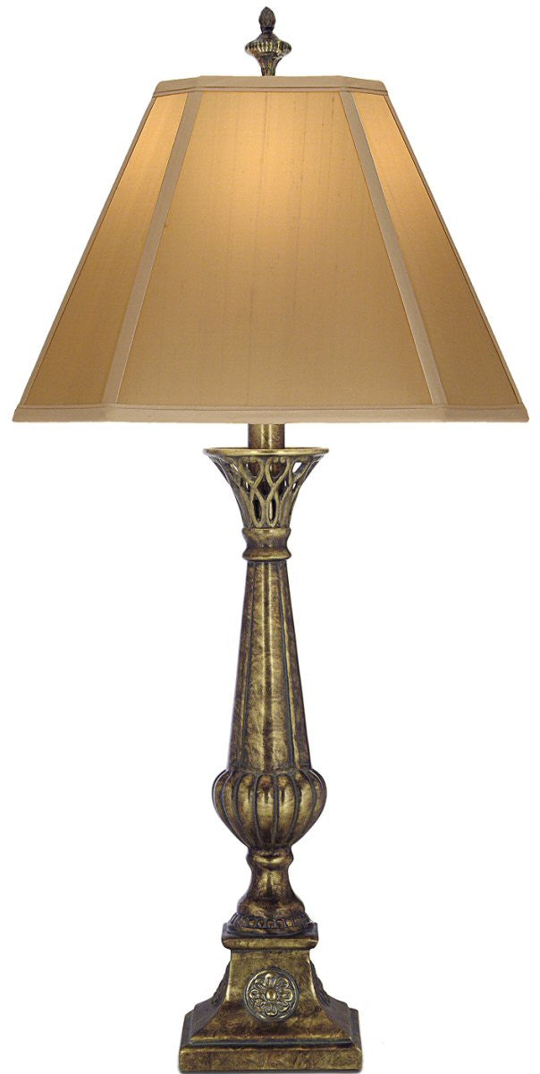 "35""h 1-Light 3-Way Table Lamp Amber Tortoise Shell"