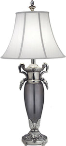 Stiffel Lamps 3-Way Table Lamp Pol Nickel with Black Antique and Blk Nickel TL67426744PNB