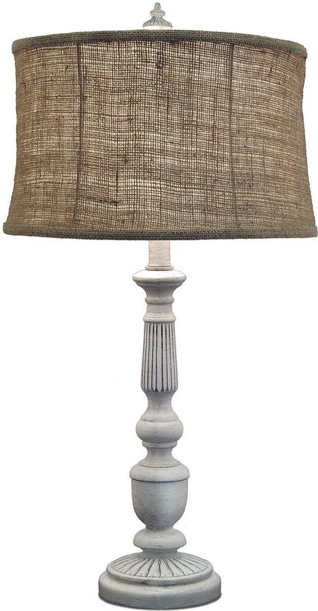 "29""H 3-Way Table Lamp Distressed White"