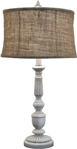 3-Way Table Lamp Distressed White