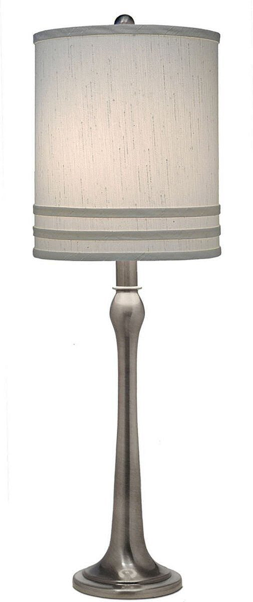 3 way table lamp antique nickel