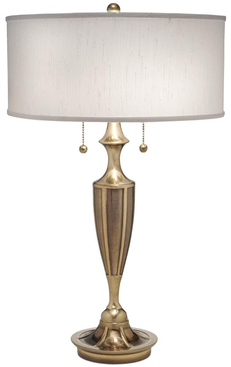 2 light table lamp burnished brass