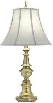 "31""H 1-Light 3-Way Table Lamp Satin Brass"