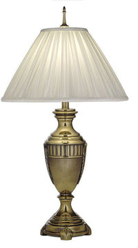 "32""H 3-Way Table Lamp Burnished Brass"