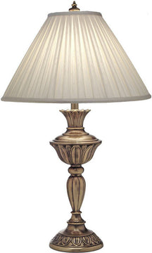 "31""H 3-Way Table Lamp Aged Brass"