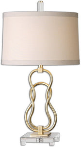 Uttermost 29 inchh Adelais 1-Light Table Lamp Antiqued Gold 26169