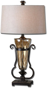 Uttermost 32 inchh Aemiliana 1-Light Table Lamp Light Amber 26594