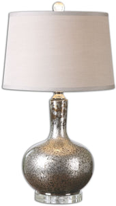 "27""h Aemilius 1-Light Table Lamp Dark Bronze / Polished Nickel"