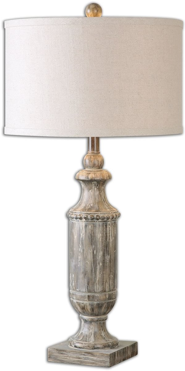 "31""H Agliano 1-Light Table Lamp Aged Dark Pecan / Burnished Wash"