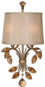 Uttermost Alenya 2-Light Vanity Strip Burnished Gold Metal 22487