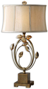 Uttermost 29 inchh Alenya 1-Light Table Lamp Burnished Gold 26337-1