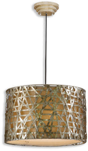 Uttermost Alita Champagne Hanging Shade Silver/Black/Satin 21108