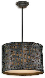 Alita Metal Hanging Shade Aged Black/Rust