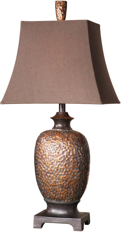 "33""H Amarion 2-Way Table Lamp Lightly Distressed Bronze Leaf"