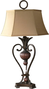 Uttermost Andra 2-Way Table Lamp Golden Bronze Metal 26917