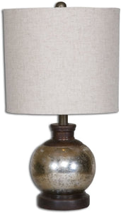 Uttermost 15 inchh Arago 1-Light Table Lamp Aged Mango Wood 26208-1