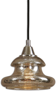 Uttermost Arborea 1-Light Mini Pendant Polished Nickel 22006