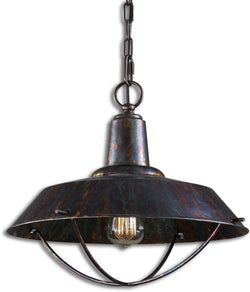 Uttermost Arcada 1-Light Pendant Oxidized Bronze 21974
