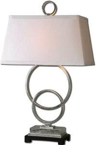 Uttermost 34 inchh Bacelos 1-Light Table Lamp Silver 27452