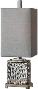 Uttermost 32 inchh Bashan 1-Light Table Lamp Nickel Plated 29927-1