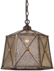 Uttermost Basiliano 1-Light Pendant Antique Silver 21991