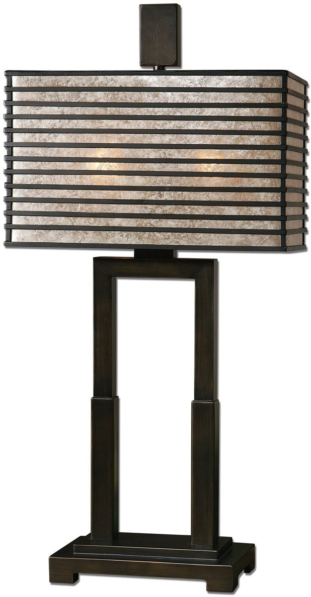 "28""H Becton 2-Light Table Lamp Oil Rubbed Bronze"
