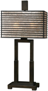 Uttermost 28 inchh Becton 2-Light Table Lamp Oil Rubbed Bronze 26291-1