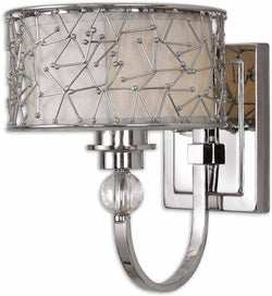Uttermost Brandon 1-Light Vanity Strip Nickel Plated Metal 22484