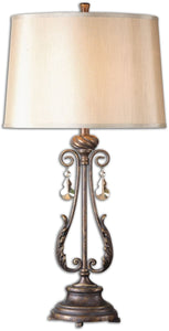 Uttermost 35 inchh Cassia 1-Light Table Lamp Oil Rubbed Bronze 26145