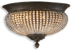 Uttermost Cristal de Lisbon Flush Mount Golden Bronze 22222