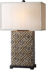 Uttermost 30 inchh Curino 1-Light Table Lamp Bronze/Champagne/Black 26829-1