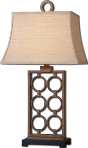 Uttermost 31 inchh Dardenne 1-Light Table Lamp Rust Bronze / Matte Black 27453
