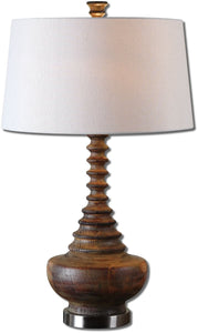 Uttermost 27 inchh Diega 1-Light Table Lamp Aged Mahogany 26766