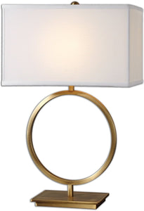 Uttermost 28 inchh Duara 1-Light Table Lamp Plated Brushed Brass 26559-1