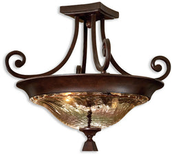 Uttermost Elba 2-Light Semi Flush Mount Spice 22209