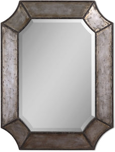"32x24"" Elliot Mirror Hammered Aluminum"
