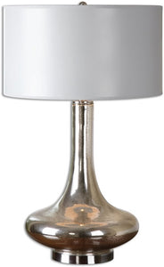 Uttermost 30 inchh Fabricius 1-Light Table Lamp Brushed Nickel 26200-1