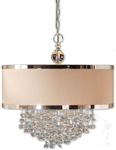 "22""w Fascination 3-Light Pendant Silver Plated"