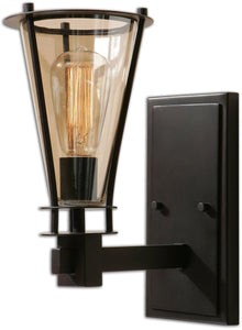 Uttermost Frisco 1-Light Vanity Strip Rustic Black Metal 22492