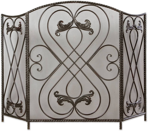 Uttermost Effie Fireplace Screen Distressed Black 20960