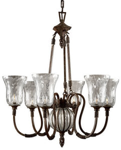 Uttermost Galeana 6-Light Chandelier Antique Saddle 21045