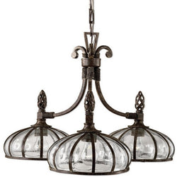 Uttermost Galeana 3-Light Chandelier Antique Saddle 21046