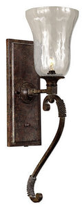 Uttermost Galeana Wall Sconce Antique Saddle 22418