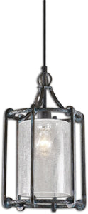 Uttermost Generosa 1-Light Lanterns Turquoise Washed Rust Black 22027